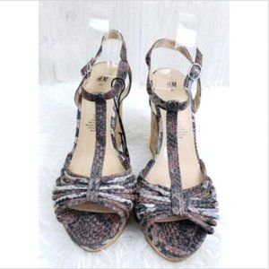 Stylish Animal Print Wedge Sandals from H&M 41/9.5